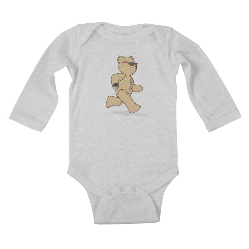 Running Bear Kids Baby Longsleeve Bodysuit by grumpyteds's Artist Shop