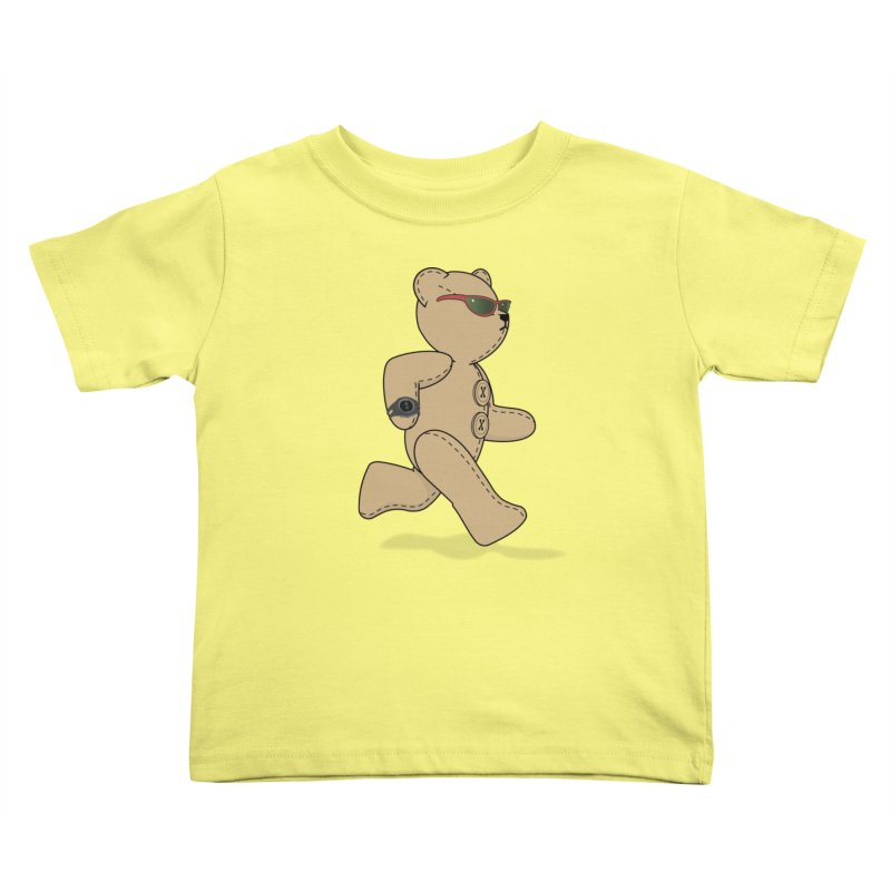 Running Bear Kids Toddler T-Shirt by grumpyteds's Artist Shop