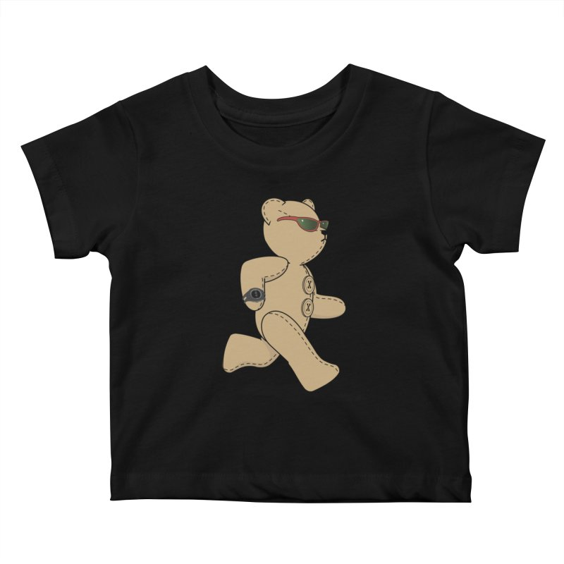 Running Bear Kids Baby T-Shirt by grumpyteds's Artist Shop