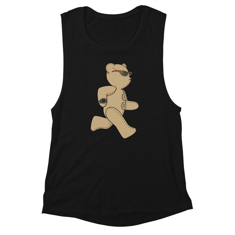 Running Bear Women's Tank by grumpyteds's Artist Shop