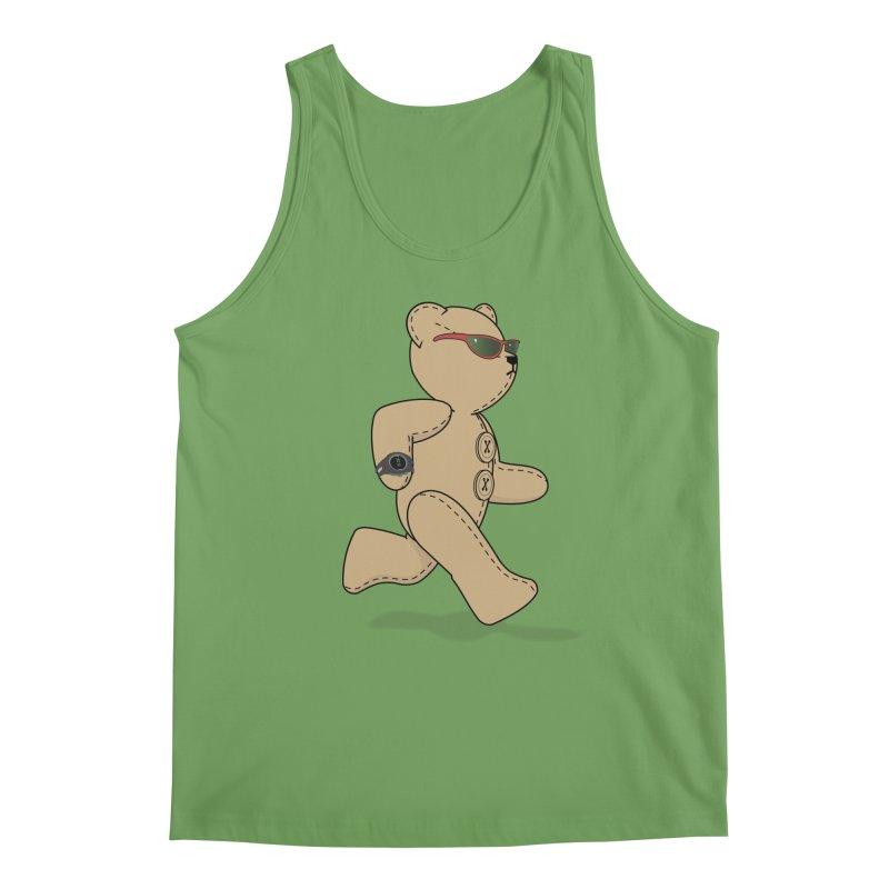 Running Bear Men's Tank by grumpyteds's Artist Shop