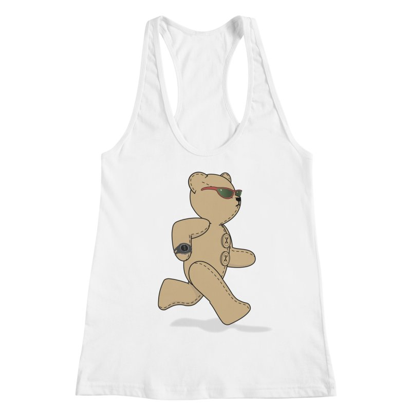 Running Bear Women's Racerback Tank by grumpyteds's Artist Shop
