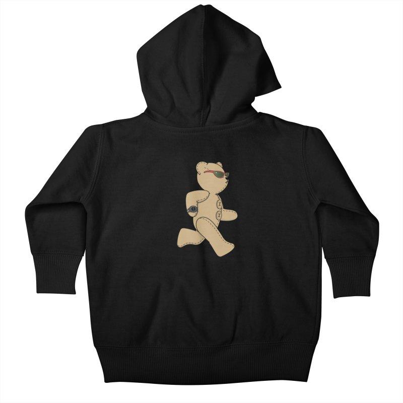 Running Bear Kids Baby Zip-Up Hoody by grumpyteds's Artist Shop