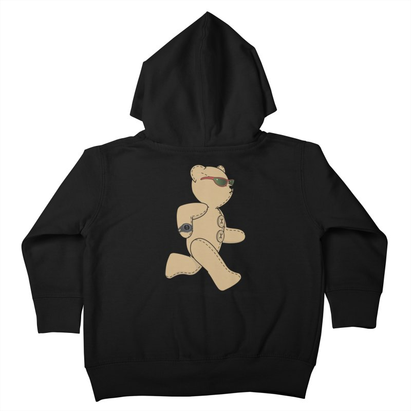 Running Bear Kids Toddler Zip-Up Hoody by grumpyteds's Artist Shop