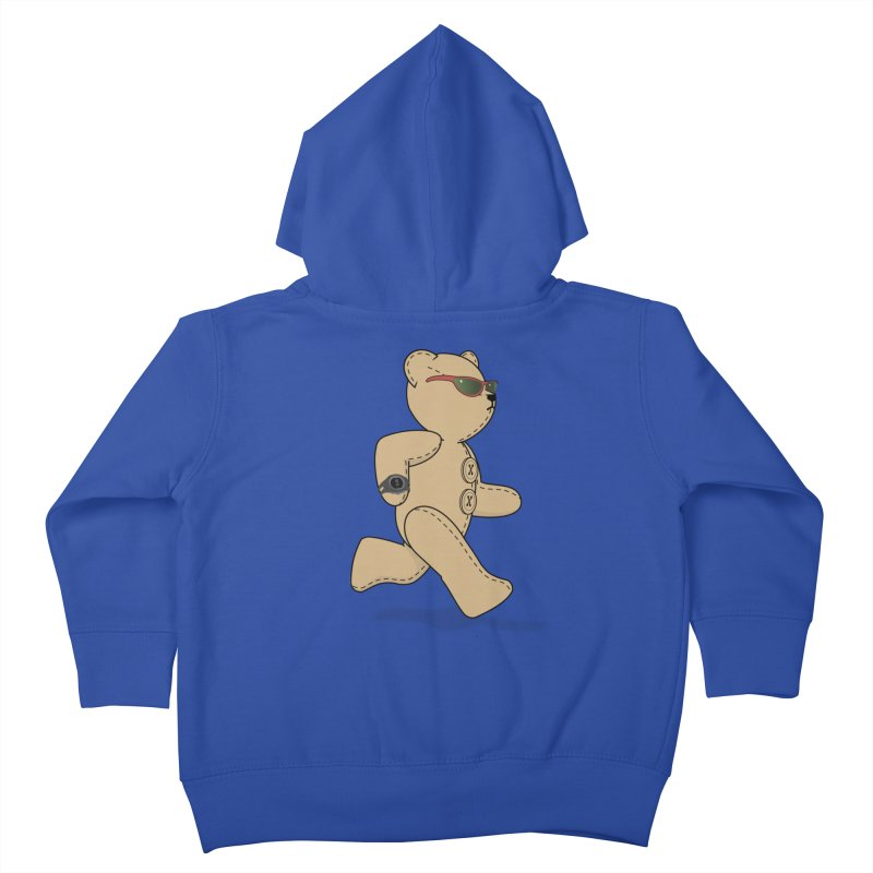 Running Bear Kids Toddler Zip-Up Hoody by grumpyteds's Artist Shop