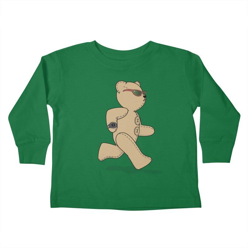 Running Bear Kids Toddler Longsleeve T-Shirt by grumpyteds's Artist Shop