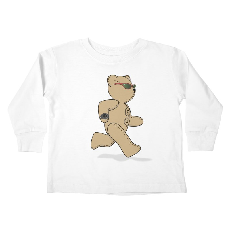 Running Bear Kids Toddler Longsleeve T-Shirt by grumpyteds's Artist Shop