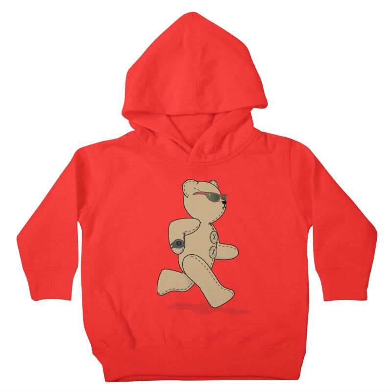 Running Bear Kids Toddler Pullover Hoody by grumpyteds's Artist Shop