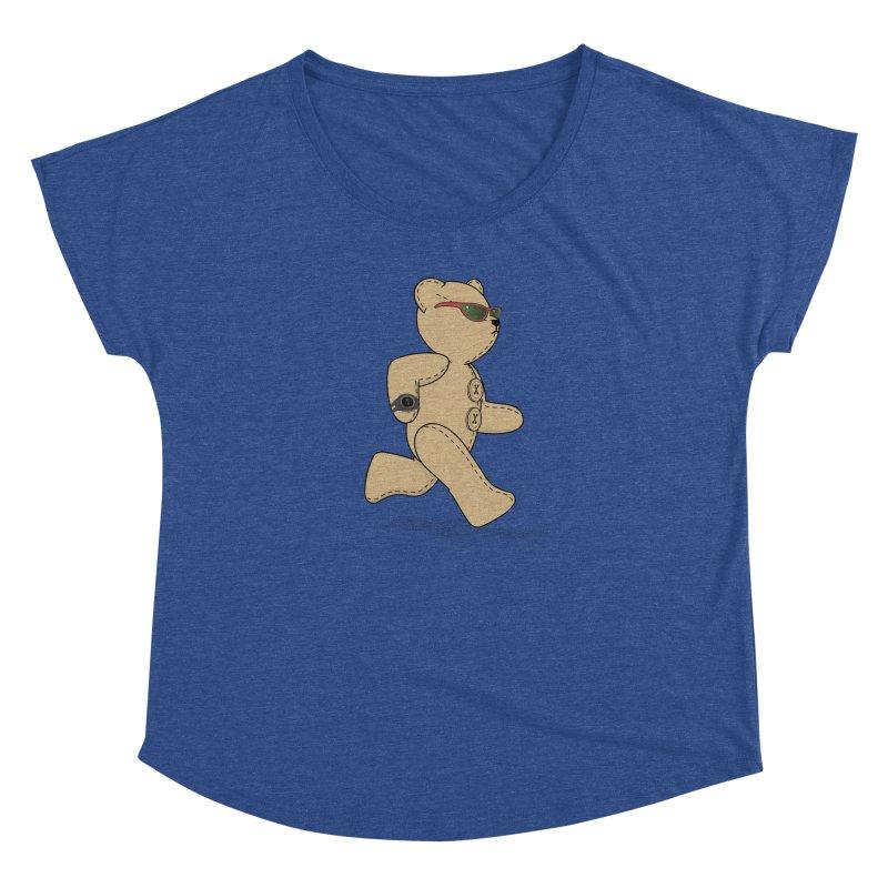 Running Bear Women's Dolman Scoop Neck by grumpyteds's Artist Shop