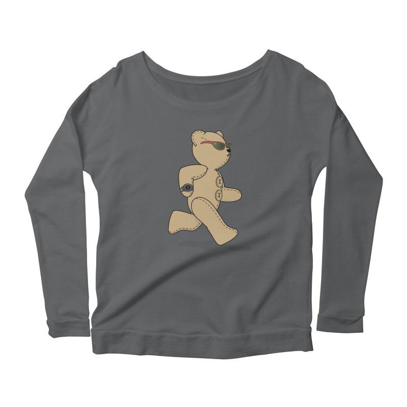 Running Bear Women's Longsleeve T-Shirt by grumpyteds's Artist Shop