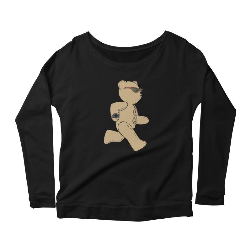 Running Bear Women's Scoop Neck Longsleeve T-Shirt by grumpyteds's Artist Shop
