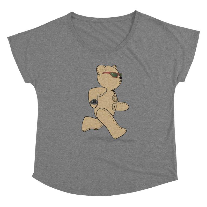 Running Bear Women's Scoop Neck by grumpyteds's Artist Shop