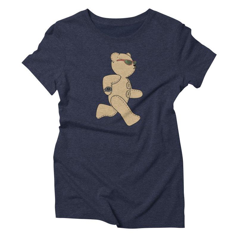 Running Bear Women's Triblend T-Shirt by grumpyteds's Artist Shop