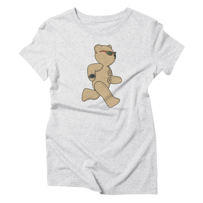 Running Bear Women's Triblend T-Shirt by grumpyteds's Artist Shop