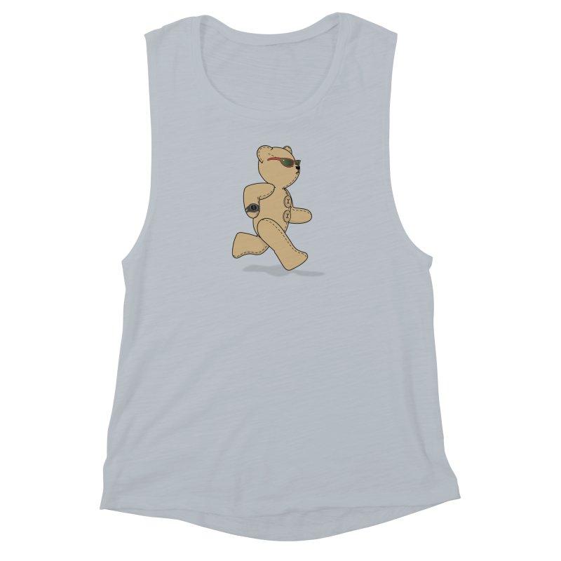 Running Bear Women's Muscle Tank by grumpyteds's Artist Shop