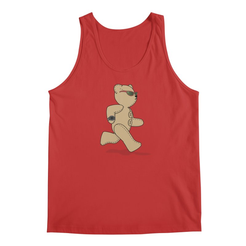 Running Bear Men's Regular Tank by grumpyteds's Artist Shop