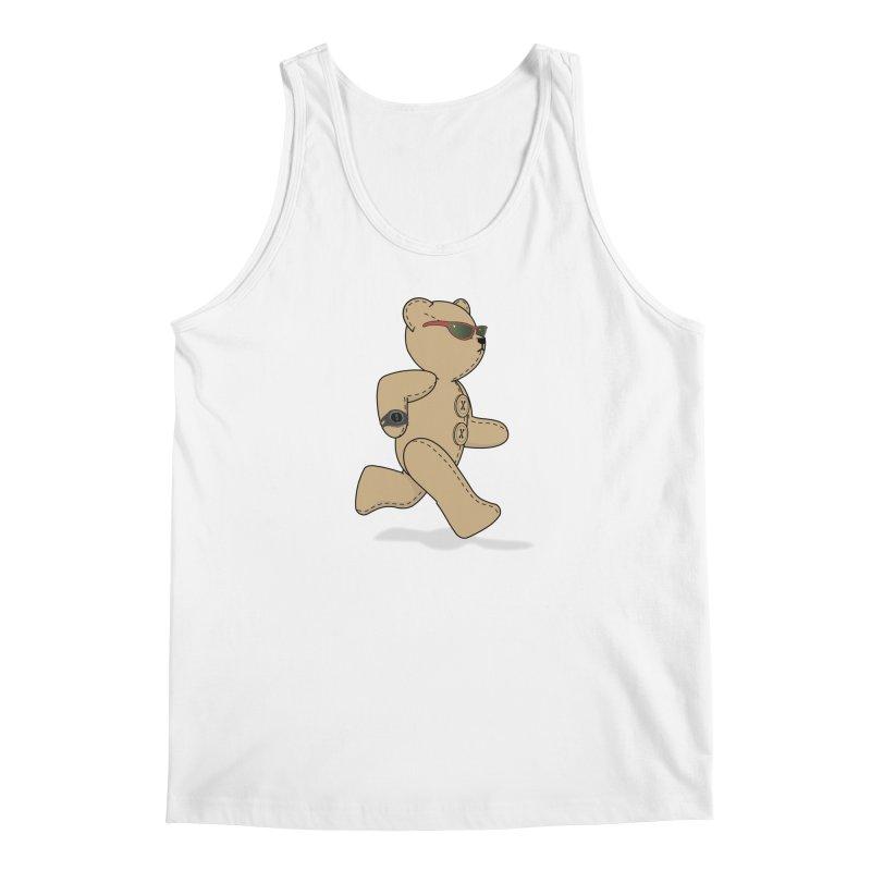 Running Bear Men's Regular Tank by grumpyteds's Artist Shop