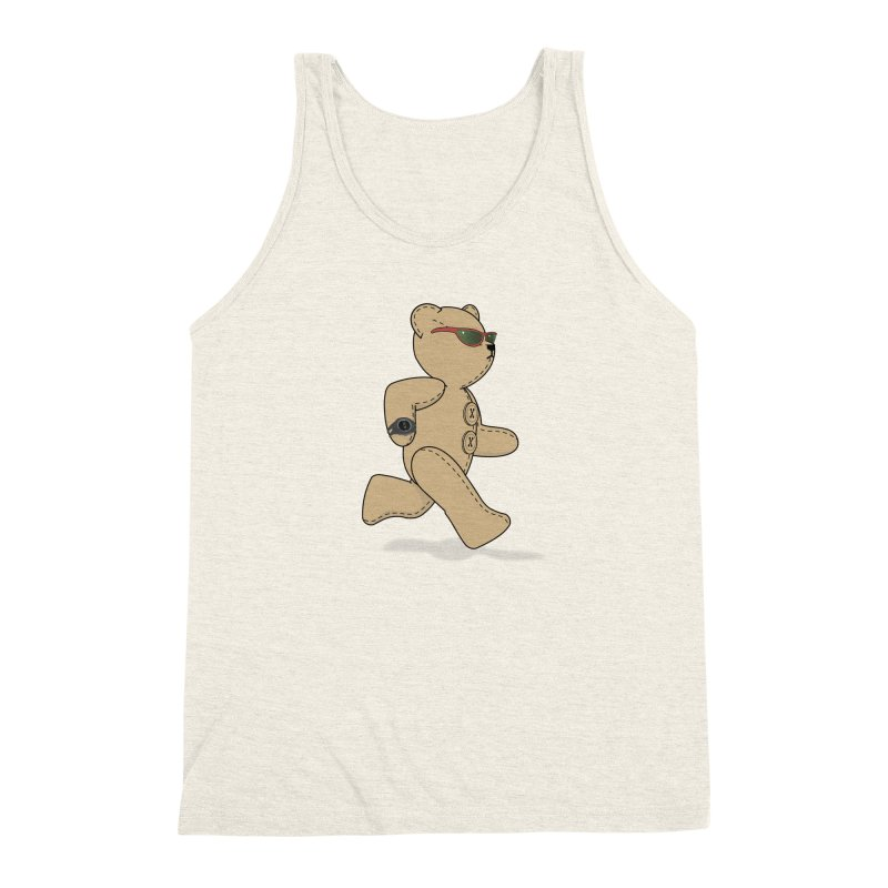Running Bear Men's Triblend Tank by grumpyteds's Artist Shop