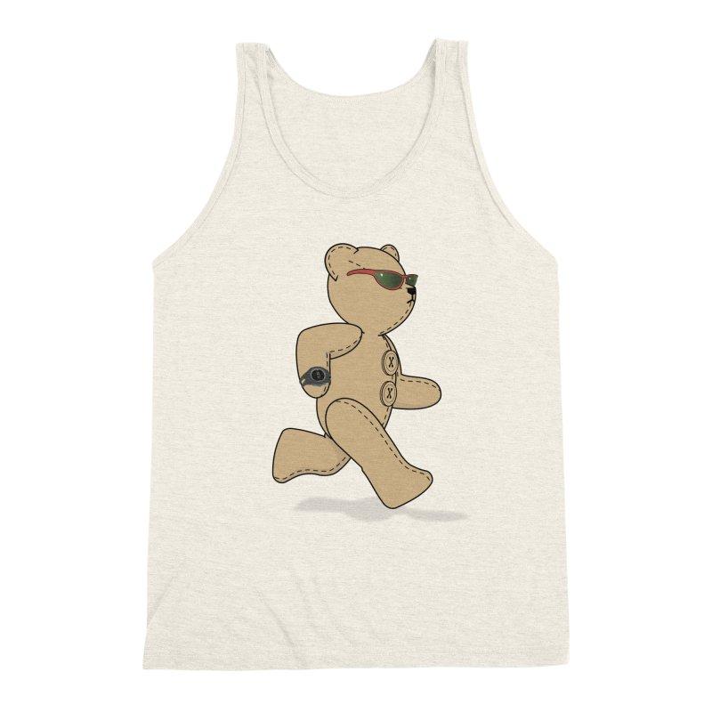 Running Bear Men's Triblend Tank by grumpyteds's Artist Shop