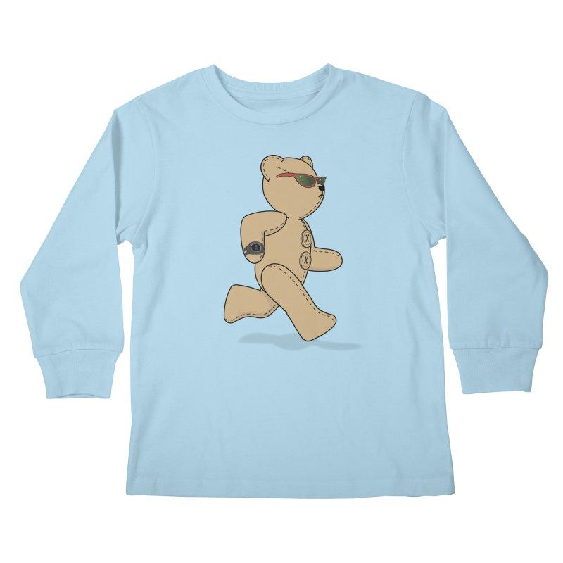 Running Bear Kids Longsleeve T-Shirt by grumpyteds's Artist Shop