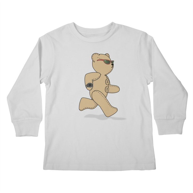Running Bear Kids Longsleeve T-Shirt by grumpyteds's Artist Shop