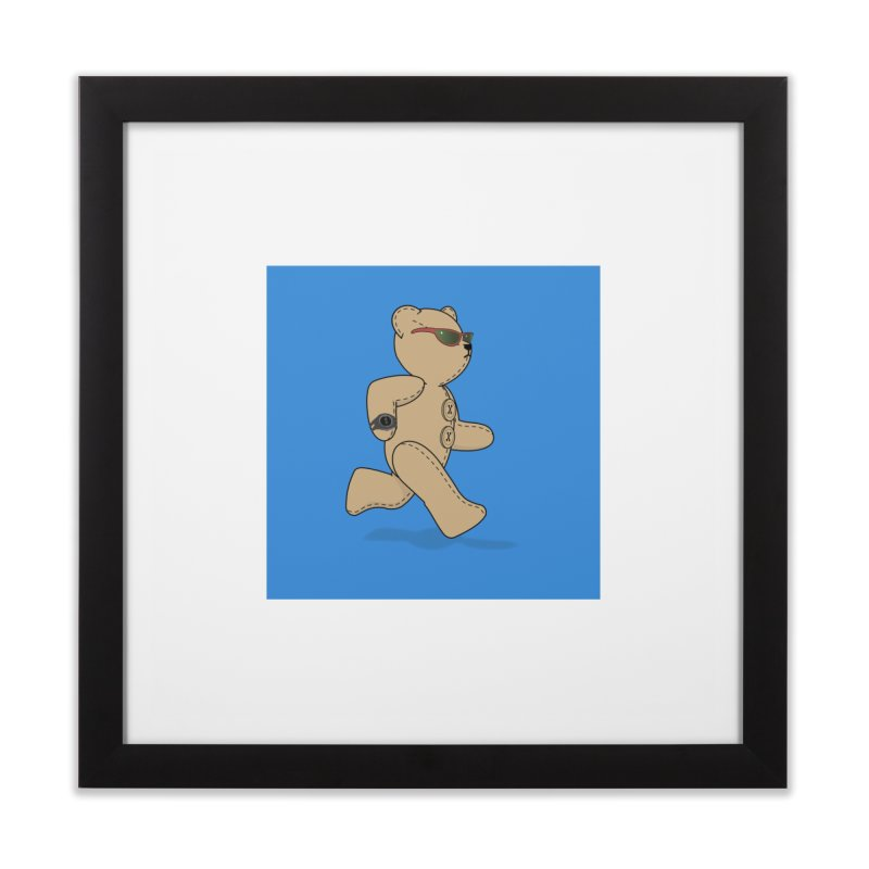 Running Bear Home Framed Fine Art Print by grumpyteds's Artist Shop