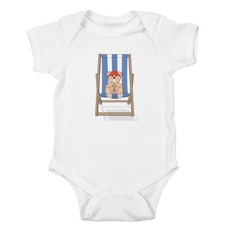 Day At The Beach Kids Baby Bodysuit by grumpyteds's Artist Shop