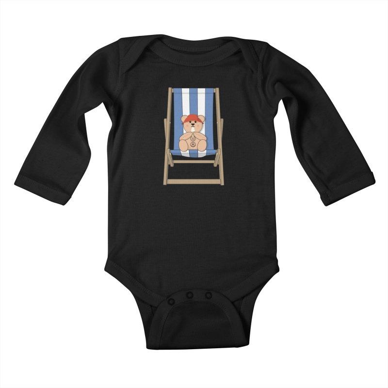 Day At The Beach Kids Baby Longsleeve Bodysuit by grumpyteds's Artist Shop
