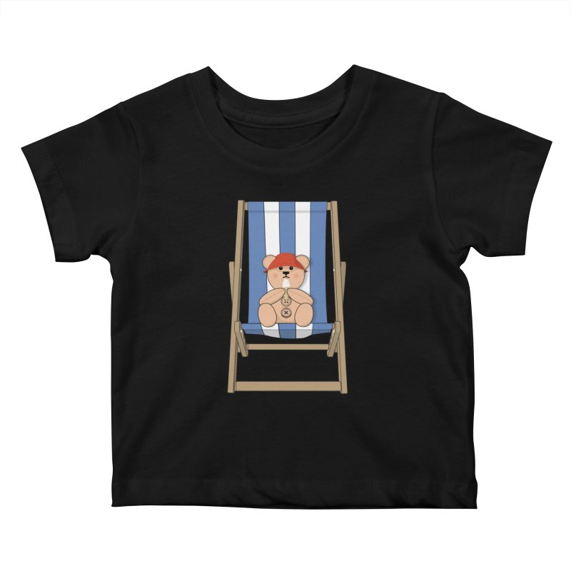 Day At The Beach Kids Baby T-Shirt by grumpyteds's Artist Shop