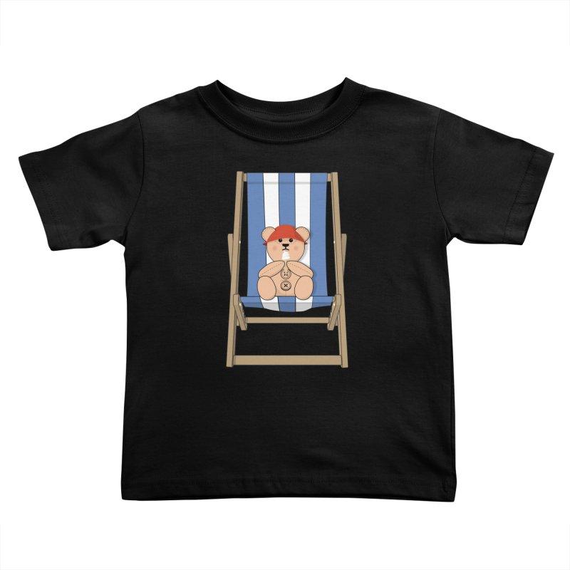 Day At The Beach Kids Toddler T-Shirt by grumpyteds's Artist Shop
