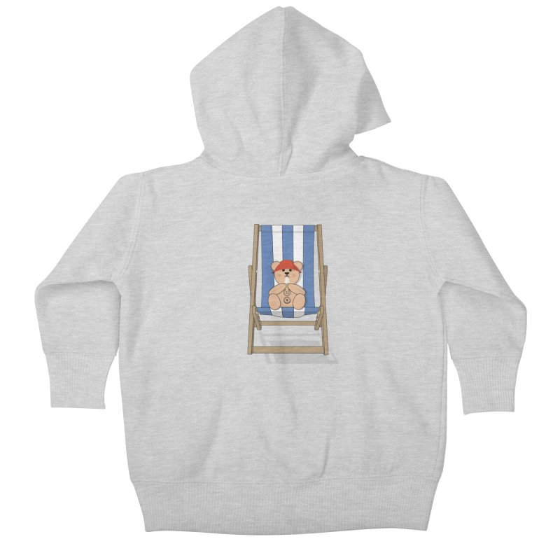 Day At The Beach Kids Baby Zip-Up Hoody by grumpyteds's Artist Shop