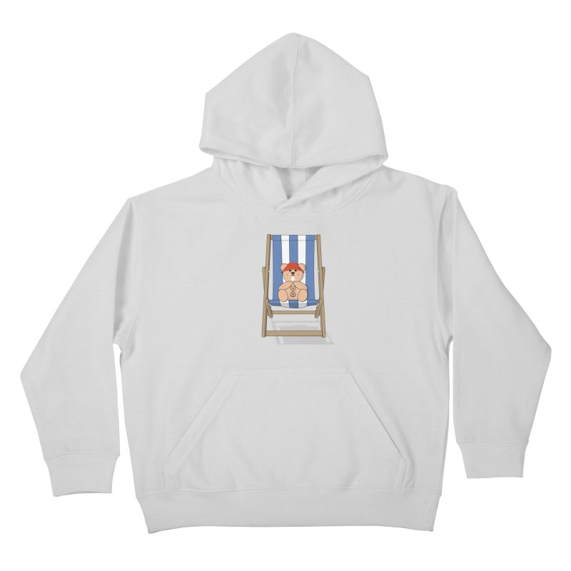 Day At The Beach Kids Pullover Hoody by grumpyteds's Artist Shop