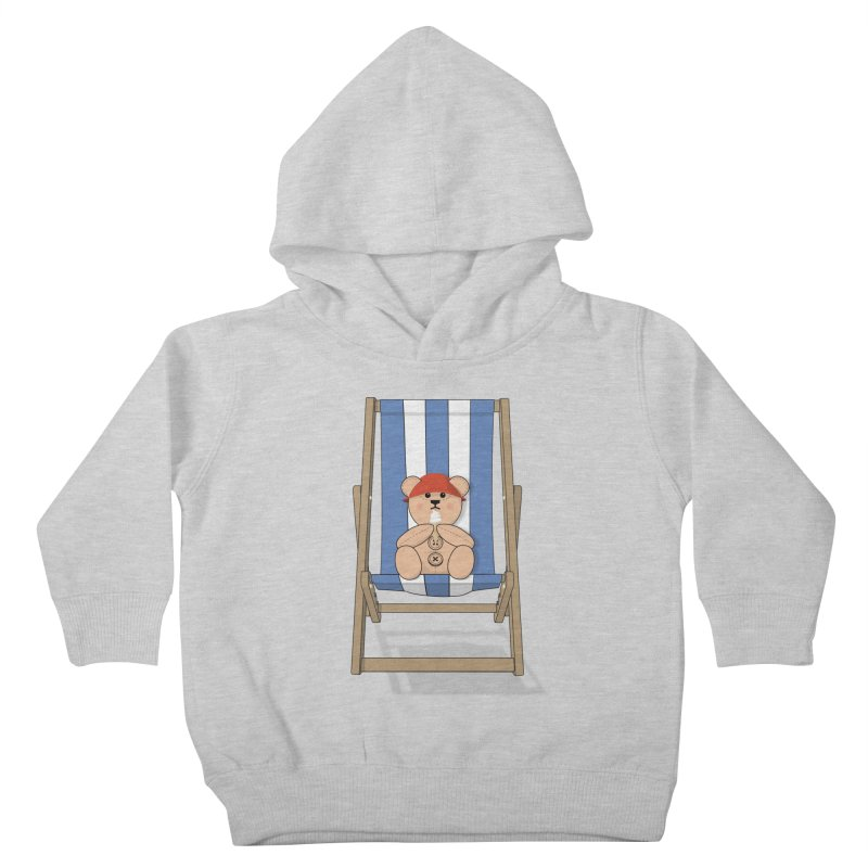 Day At The Beach Kids Toddler Pullover Hoody by grumpyteds's Artist Shop