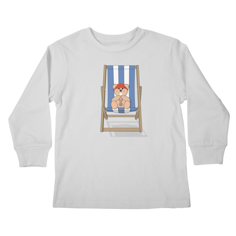 Day At The Beach Kids Longsleeve T-Shirt by grumpyteds's Artist Shop