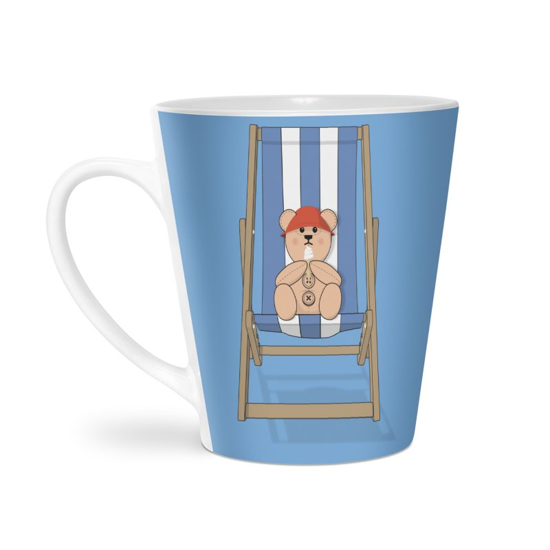 Day At The Beach Accessories Latte Mug by grumpyteds's Artist Shop