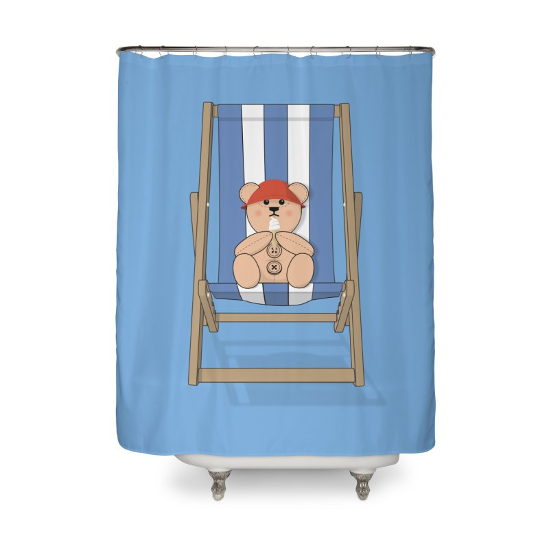 Day At The Beach Home Shower Curtain by grumpyteds's Artist Shop