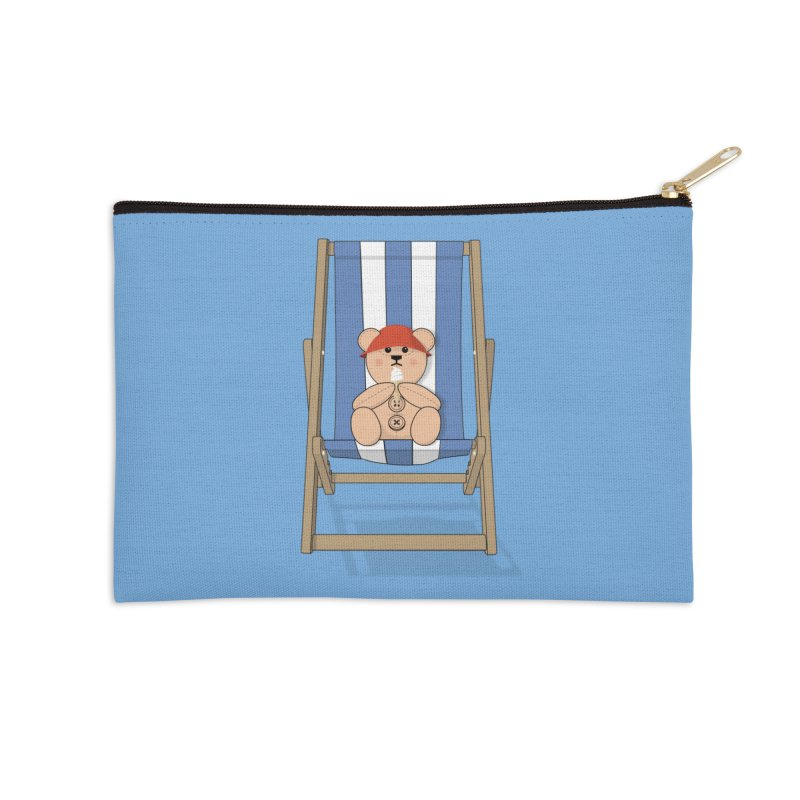 Day At The Beach Accessories Zip Pouch by grumpyteds's Artist Shop