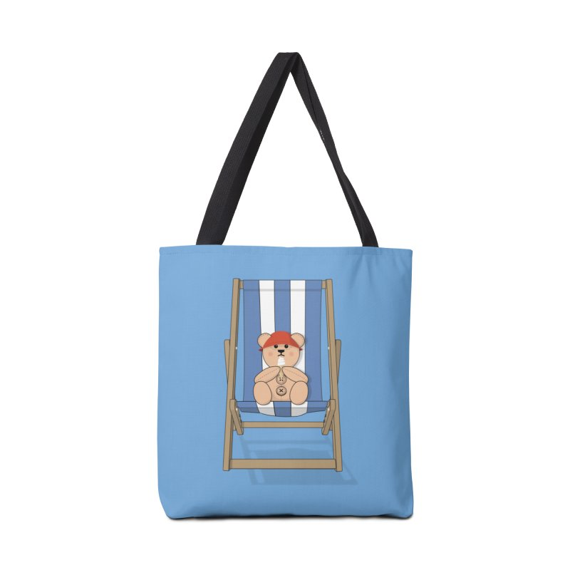 Day At The Beach Accessories Tote Bag Bag by grumpyteds's Artist Shop