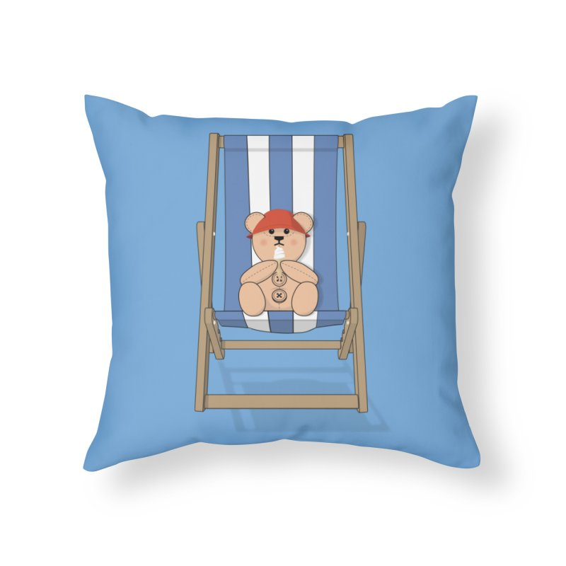 Day At The Beach Home Throw Pillow by grumpyteds's Artist Shop