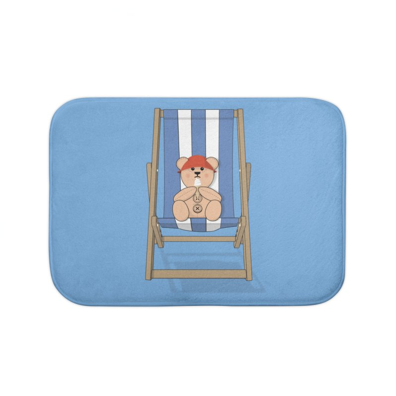 Day At The Beach Home Bath Mat by grumpyteds's Artist Shop