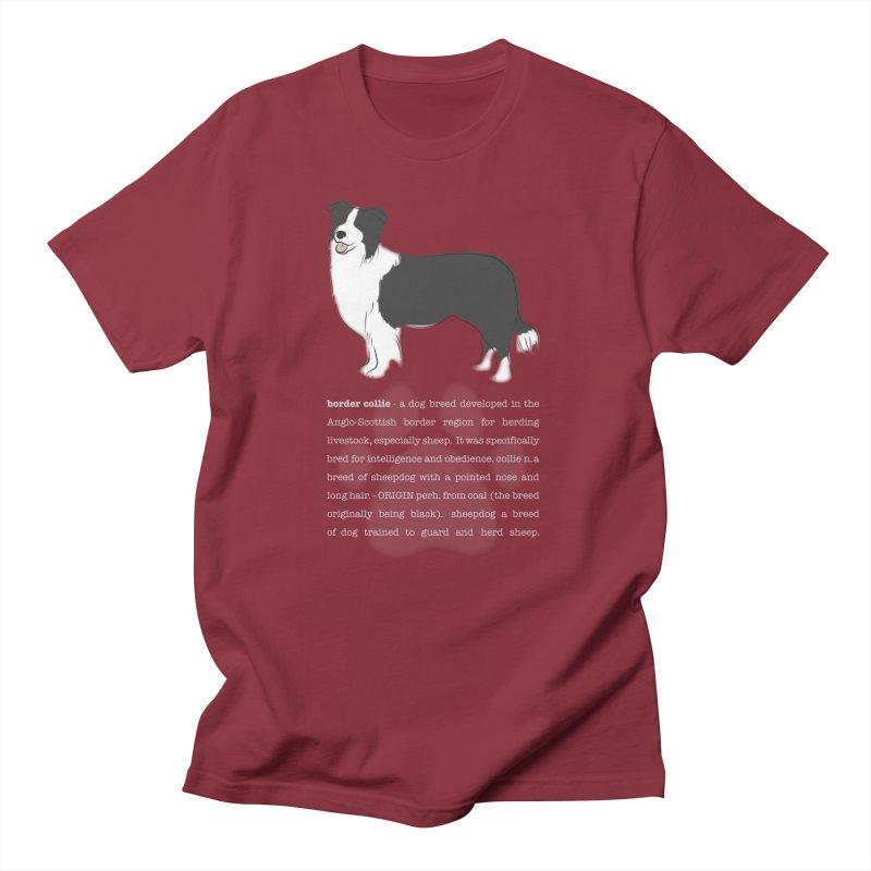 Border Collie 1 Men's T-Shirt by grumpyteds's Artist Shop