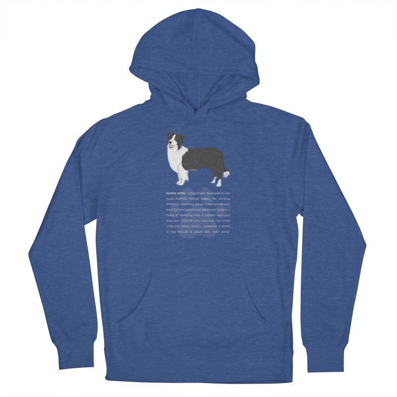 Border Collie 1 Women's Pullover Hoody by grumpyteds's Artist Shop