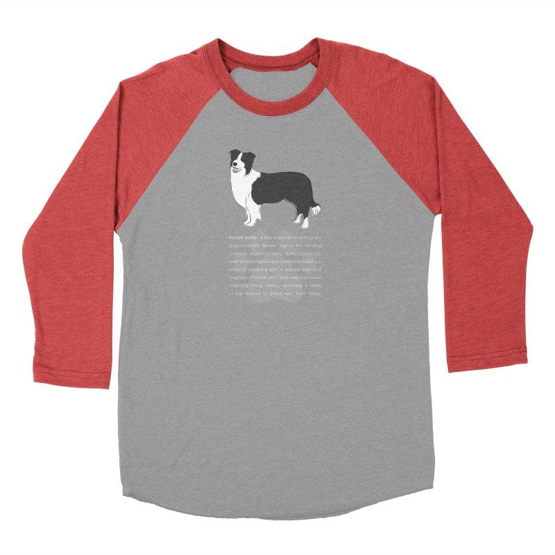 Border Collie 1 Men's Longsleeve T-Shirt by grumpyteds's Artist Shop