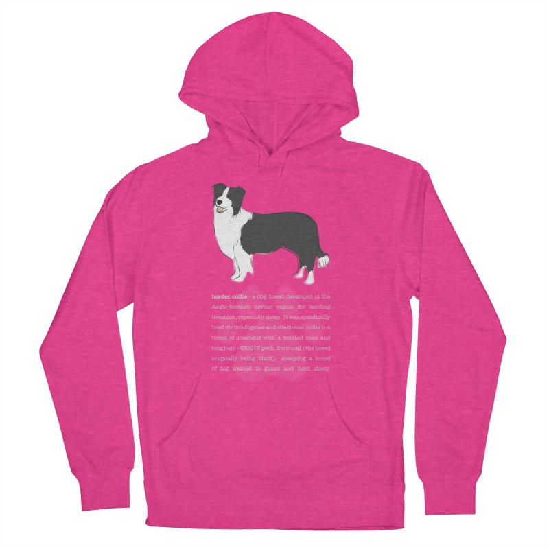 Border Collie 1 Women's French Terry Pullover Hoody by grumpyteds's Artist Shop