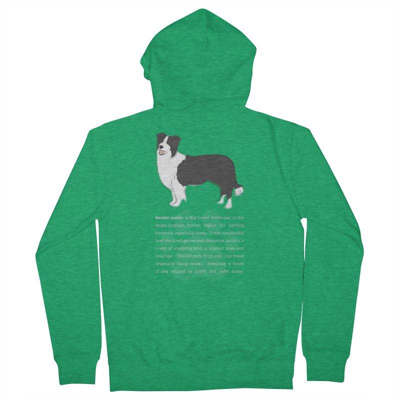 Border Collie 1 Women's Zip-Up Hoody by grumpyteds's Artist Shop