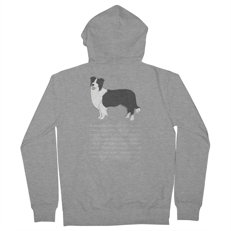 Border Collie 1 Women's French Terry Zip-Up Hoody by grumpyteds's Artist Shop