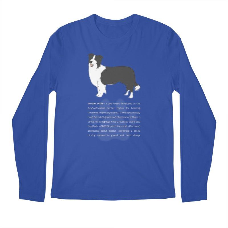 Border Collie 1 Men's Regular Longsleeve T-Shirt by grumpyteds's Artist Shop