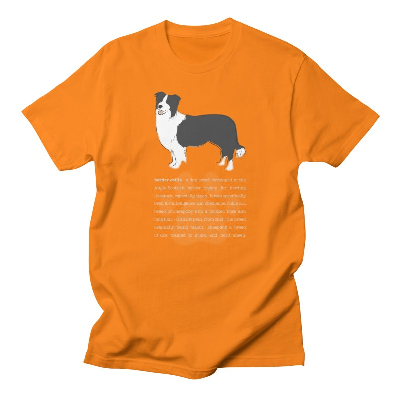 Border Collie 1 Men's Regular T-Shirt by grumpyteds's Artist Shop