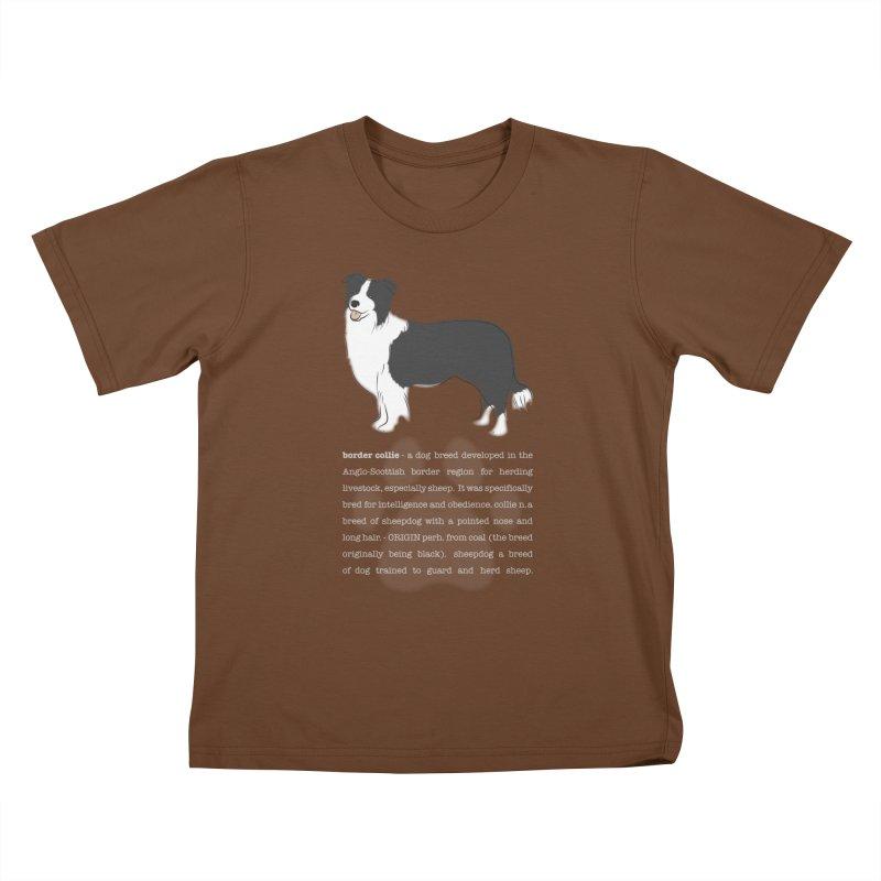 Border Collie 1 Kids T-Shirt by grumpyteds's Artist Shop