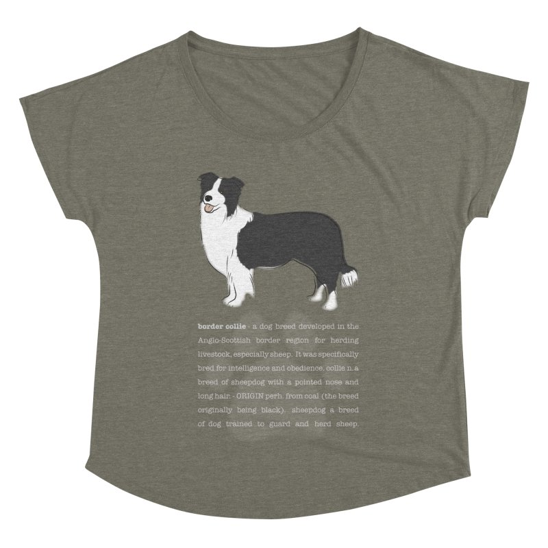 Border Collie 1 Women's Scoop Neck by grumpyteds's Artist Shop